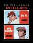 1971 Topps #138   -  Willie Montanez / Joe Lis Phillies Rookies Front Thumbnail