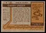 1973 Topps #15  Garry Unger   Back Thumbnail