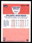 1986 Fleer #130  Orlando Woolridge  Back Thumbnail