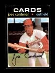 1971 Topps #435  Jose Cardenal  Front Thumbnail