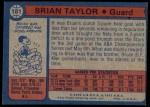1974 Topps #181  Brian Taylor  Back Thumbnail