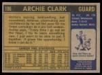 1971 Topps #106  Archie Clark  Back Thumbnail