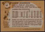 1981 Topps #68 E Eddie Johnson  Back Thumbnail