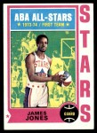 1974 Topps #260  James Jones  Front Thumbnail