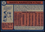 1974 Topps #68  Happy Hairston  Back Thumbnail