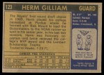 1971 Topps #123  Herm Gilliam  Back Thumbnail