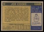 1971 Topps #62  Joe Cooke   Back Thumbnail