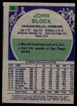 1975 Topps #64  John Block  Back Thumbnail