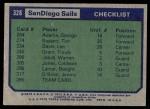 1975 Topps #328   San Diego Sails Back Thumbnail