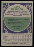 1975 Topps #246  Dave Twardzik  Back Thumbnail