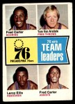 1974 Topps #94   -  Fred Carter / Leroy Ellis / Tom Van Arsdale 76ers Leaders Front Thumbnail