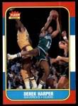 1986 Fleer #44  Derek Harper  Front Thumbnail