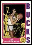 1974 Topps #37  Jon McGlocklin  Front Thumbnail