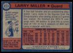 1974 Topps #213  Larry Miller  Back Thumbnail