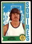 1974 Topps #213  Larry Miller  Front Thumbnail