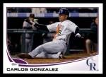 2013 Topps #5  Carlos Gonzalez   Front Thumbnail