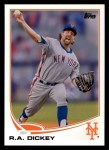 2013 Topps #43  R.A. Dickey   Front Thumbnail