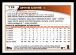 2013 Topps #119  Chris Davis   Back Thumbnail