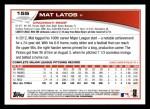 2013 Topps #155  Mat Latos   Back Thumbnail