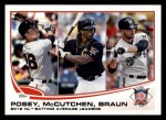 2013 Topps #189   -  Buster Posey / Andrew McCutchen / Ryan Braun  NL Batting Average Leaders Front Thumbnail