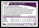 2013 Topps #273  Dexter Fowler   Back Thumbnail