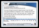 2013 Topps #335  Chris Herrmann  Back Thumbnail