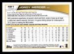 2013 Topps #421  Jordy Mercer  Back Thumbnail