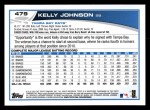 2013 Topps #479  Kelly Johnson  Back Thumbnail