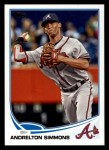 2013 Topps #581  Andrelton Simmons  Front Thumbnail