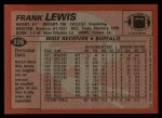 1983 Topps #226  Frank Lewis  Back Thumbnail