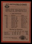 1983 Topps #13   -  William Andrews / Bobby Butler / Kenny Johnson / Fulton Kuykendall / Don Smith / Buddy Curry Falcons Leaders Back Thumbnail