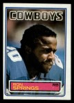 1983 Topps #53  Ron Springs  Front Thumbnail