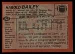 1983 Topps #272  Harold Bailey  Back Thumbnail