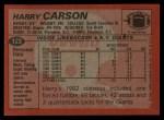 1983 Topps #123  Harry Carson  Back Thumbnail