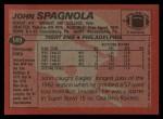 1983 Topps #149  John Spagnola  Back Thumbnail