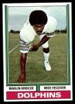 1974 Topps #92  Marlin Briscoe  Front Thumbnail