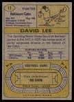 1974 Topps #17  David Lee  Back Thumbnail
