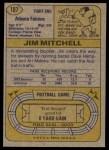 1974 Topps #107 ONE Jim Mitchell   Back Thumbnail