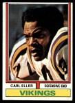 1974 Topps #5  Carl Eller  Front Thumbnail