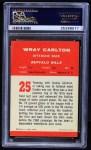 1963 Fleer #25  Wray Carlton  Back Thumbnail