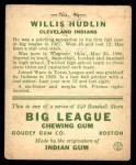 1933 Goudey #96  Willis Hudlin  Back Thumbnail