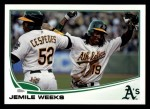 2013 Topps #23  Jemile Weeks   Front Thumbnail