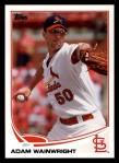 2013 Topps #50  Adam Wainwright   Front Thumbnail