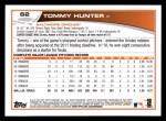 2013 Topps #62  Tommy Hunter   Back Thumbnail