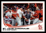 2013 Topps #269   St. Louis Cardinals - NLDS Game 5 Front Thumbnail