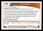 2013 Topps #270  Manny Machado   Back Thumbnail