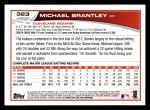 2013 Topps #323  Michael Brantley   Back Thumbnail