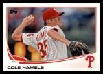 2013 Topps #332  Cole Hamels  Front Thumbnail