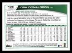 2013 Topps #425  Josh Donaldson  Back Thumbnail