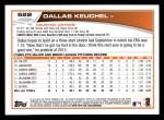 2013 Topps #522  Dallas Keuchel  Back Thumbnail